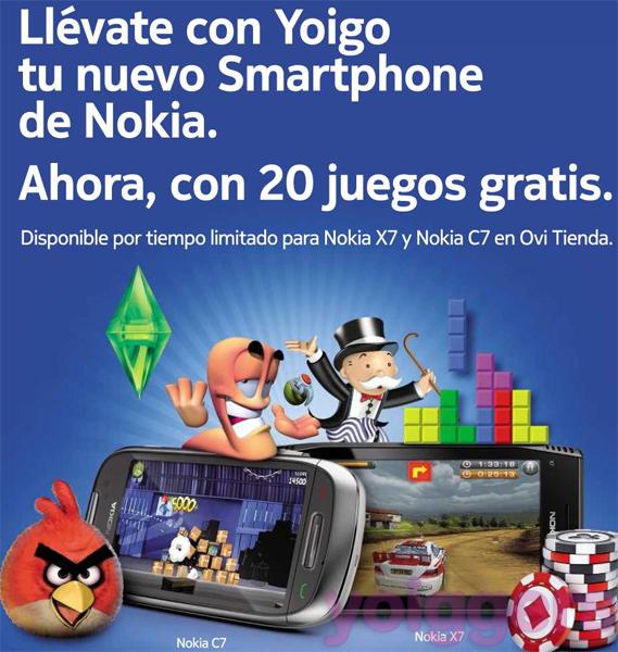 Juegos Nokia gratis con Yoigo