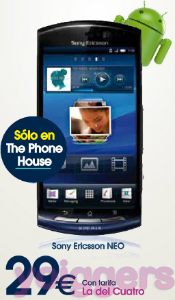 Sony Ericsson Neo con Yoigo en The Phone House