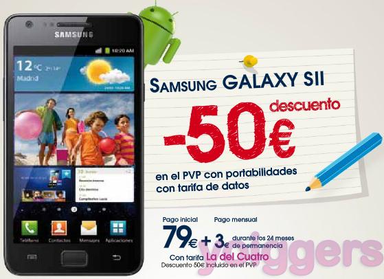 Samsung Galaxy S II en oferta con Yoigo en TPH