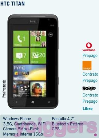 HTC Titan con Yoigo en TPH