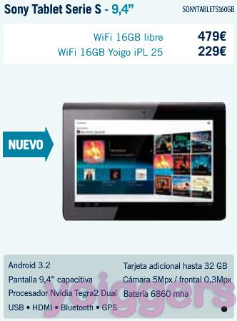 Sony Tablet S1 con Yoigo en TPH
