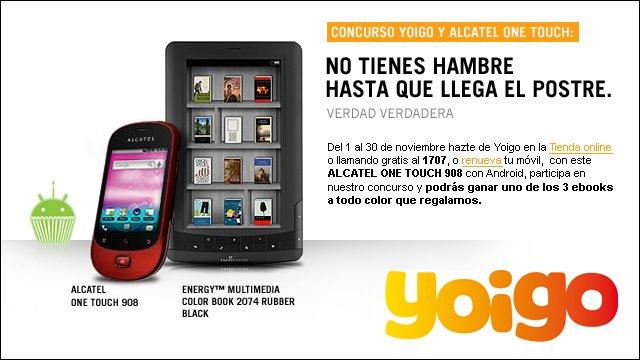 Sorteo Energy Multimedia Color Book 2074 con Yoigo y Alcatel