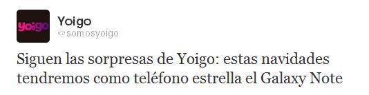 Galaxy Note en Yoigo