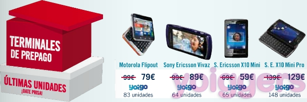 Ofertas prepago Yoigo en The Phone House, enero de 2012