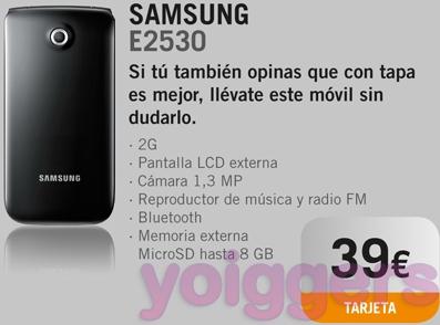 Samsung E2530 con Yoigo