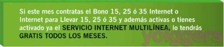 Internet multilinea gratis con yoigo en abril de 2012