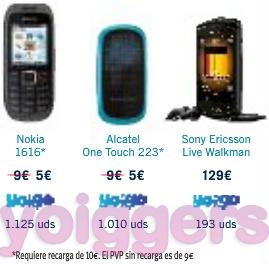Oferta móviles Yoigo marzo 2012 en The PHone House