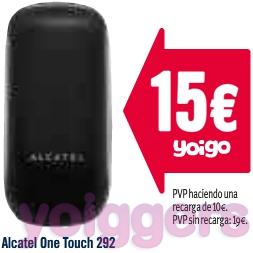 Oferta Alcatel OT 292 prepago Yoigo en TPH