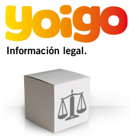 Información legal Yoigo