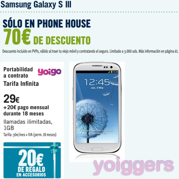 e3e43dbdae2 Samsung Galaxy S III desde 29€ con Yoigo en Phone House - Yoiggers