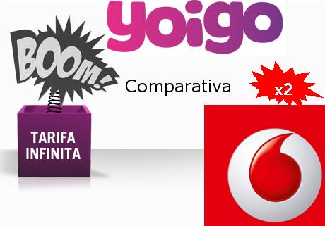 Tarifa Infinita de Yoigo contra la promoción de verano de Vodafone