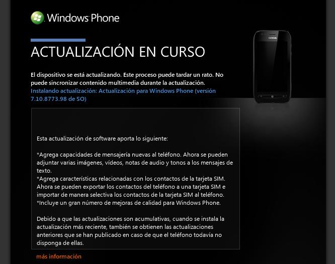 Actualización Windows Phone Tango de Yoigo
