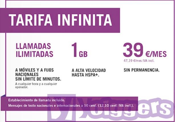 Nueva tarifa Infinita de Yoigo por 39€ en septiembre