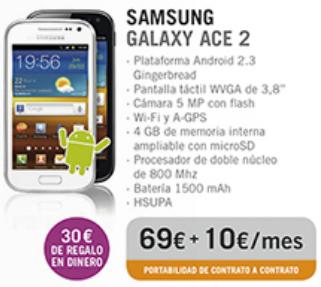 Samsung Galaxy Ace 2 con Yoigo