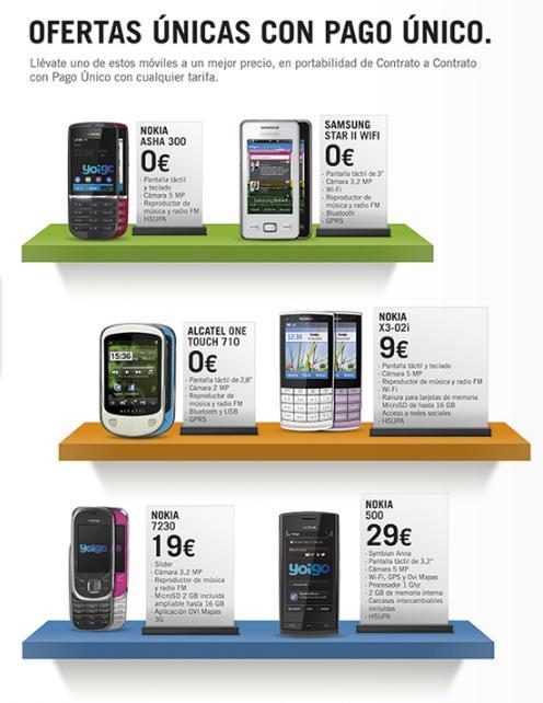 móviles gratis Yoigo agosto 2012