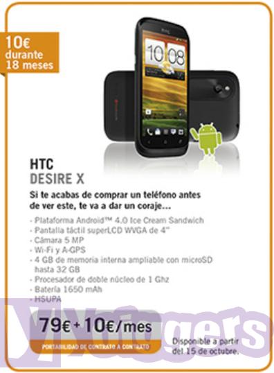 HTC Desire X con Yoigo