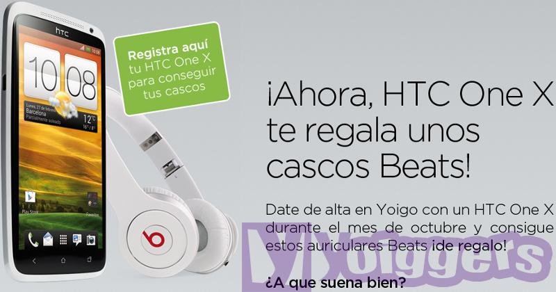 Promoción HTC One X con Yoigo