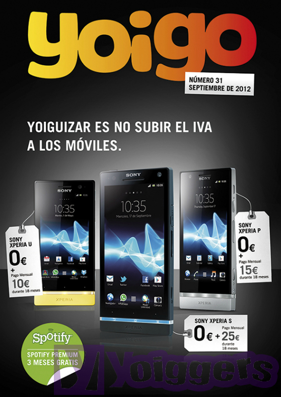 Revista septiembre 2012 de Yoigo