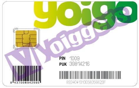 Tarjeta micro SIM Yoigo