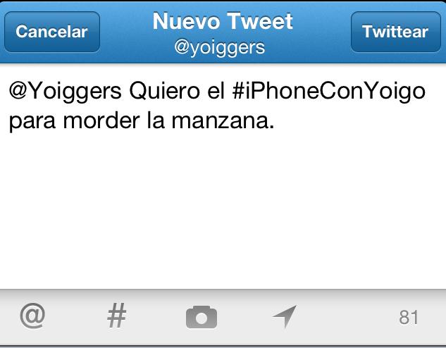 iPhone con Yoigo