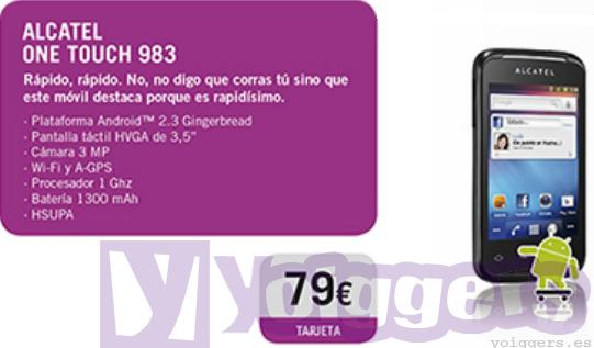 Alcatel 983 con Yoigo