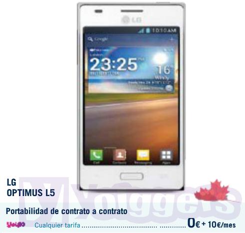 LG Optimus L5 con Yoigo en Phone House