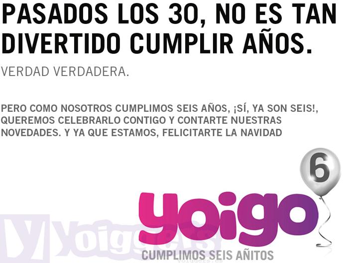 Cumpleaños 6 Yoigo