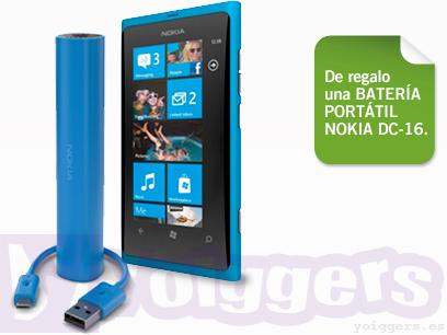 Nokia Lumia 800 con regalo en Yoigo