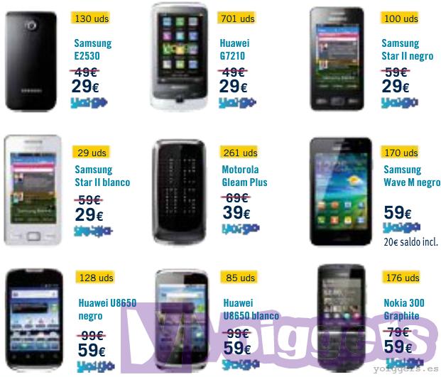 Ofertas prepago Yoigo en Phone House noviembre 2012