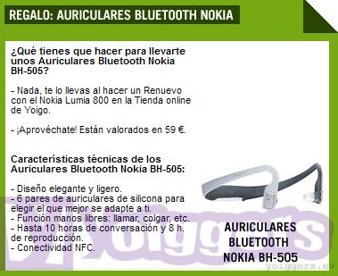 Regalo Nokia Lumia 800 Renuevo Yoigo