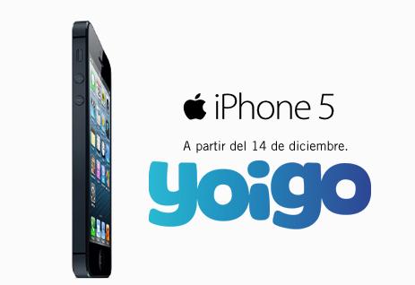 iPhone 5 con Yoigo el 14 de diciembre de 2012