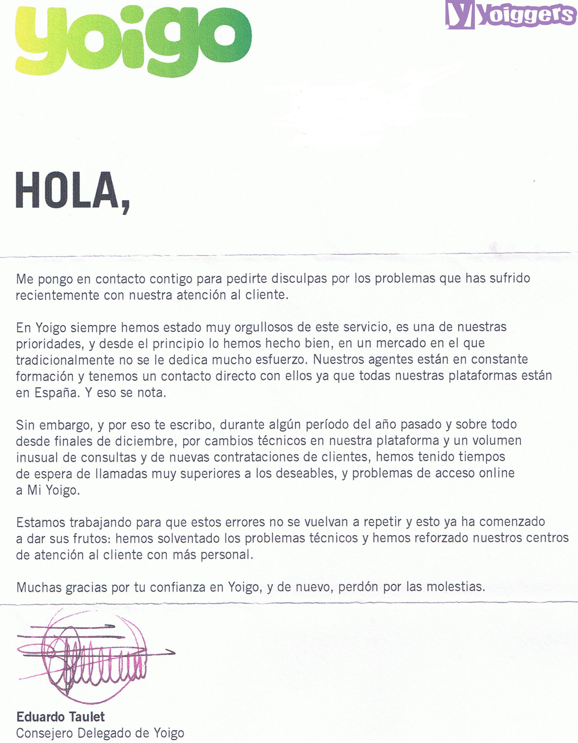 Carta Eduardo Taulet Yoigo