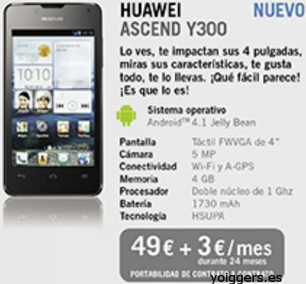 Huawei Ascend Y300 con Yoigo