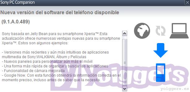 Android Jelly Bean para Sony Xperia T de Yoigo