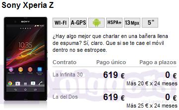 Sony xperia Z con Yoigo