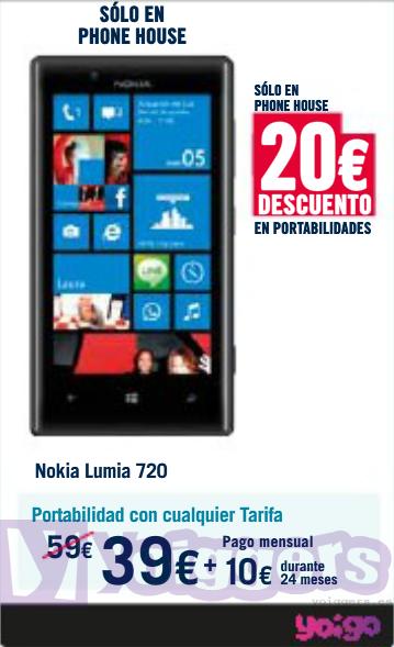Nokia Lumia 720 con Yoigo en Phone House