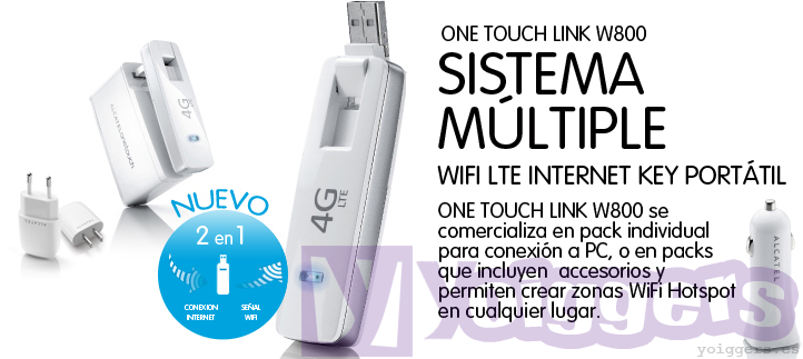 Alcatel One Touch Link W800 con Yoigo