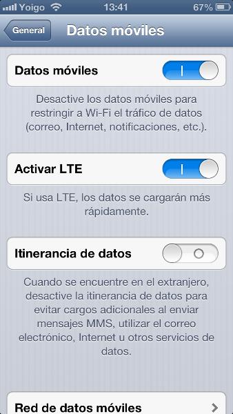 LTE 4G en el iPhone 5 de Yoigo