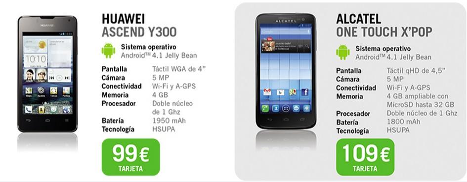 oferta smartphones tarjeta Yoigo agosto 2013