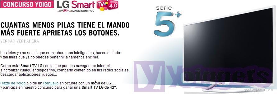 Concurso Yoigo LG Smart TV octubre 2013