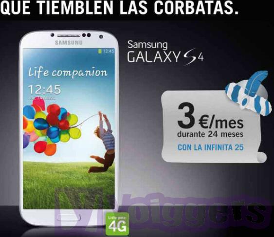 Oferta Samsung Galaxy S4 con Yoigo en diciembre