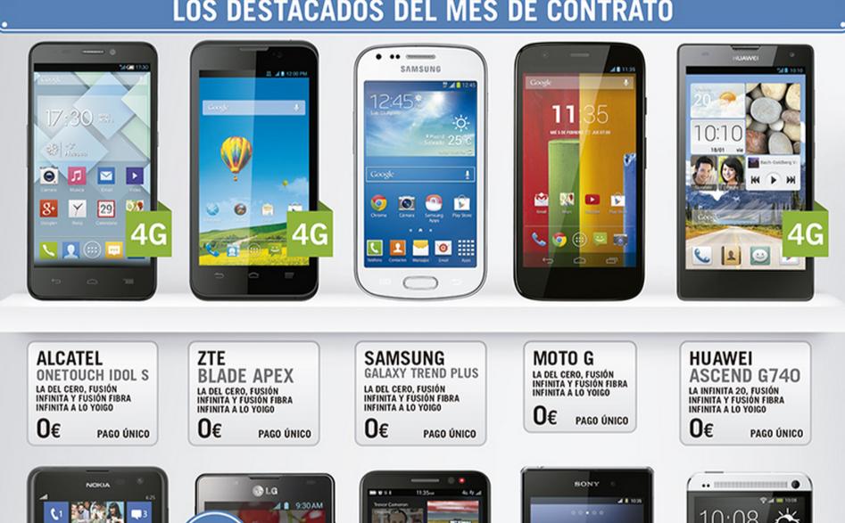 móviles gratis contrato Yoigo, enero 2014