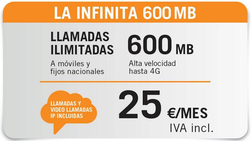 La Infinita 600 MB Yoigo