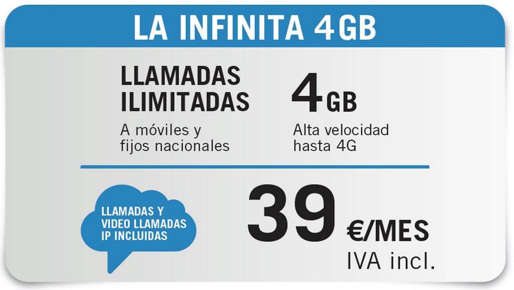 La Infinita 4 GB Yoigo