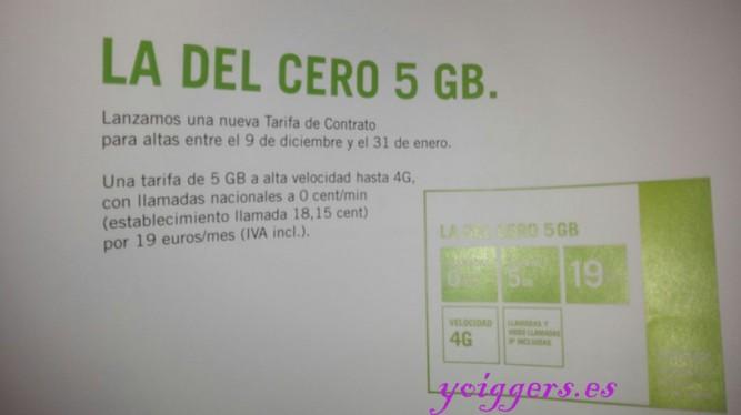 La del Cero 5GB de Yoigo